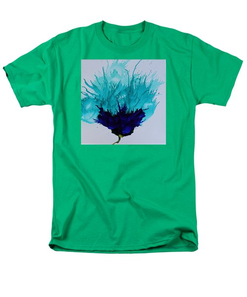 Men's T-Shirt  (Regular Fit) featuring the painting Blue Thistle by Suzanne Canner