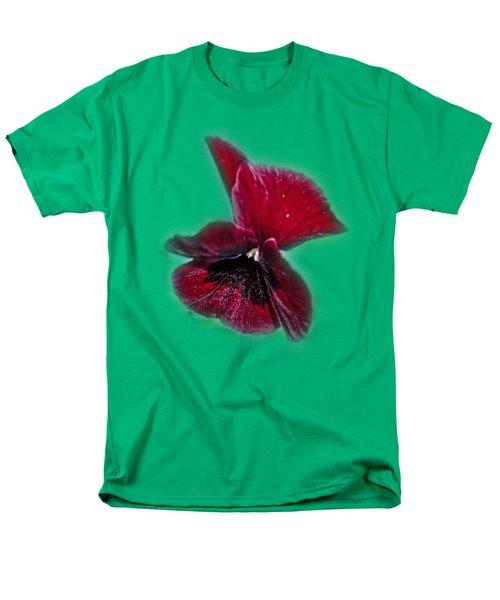 Burgundy Pansy  Tee-shirt Men's T-Shirt  (Regular Fit) by Donna Brown