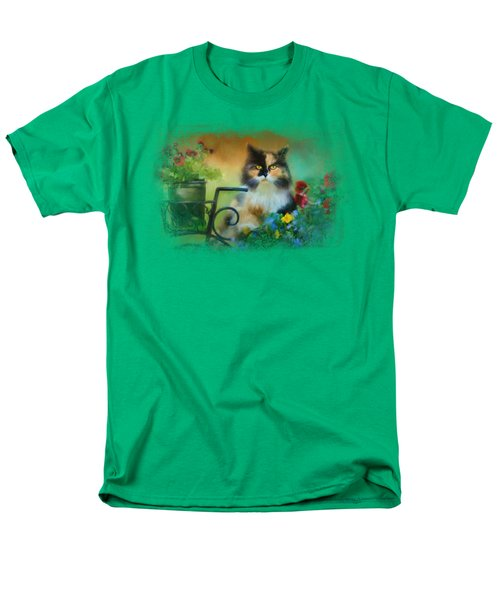 Calico In The Garden Men's T-Shirt  (Regular Fit)