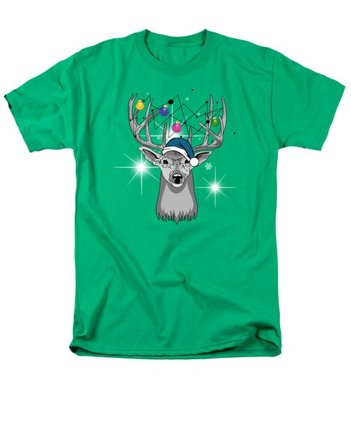 Christmas Deer Men's T-Shirt  (Regular Fit) by Mark Ashkenazi
