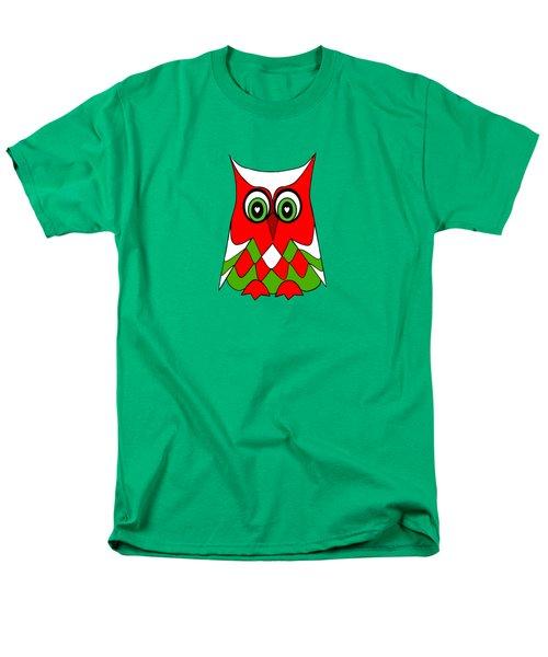 Christmas Owl Men's T-Shirt  (Regular Fit) by Kathleen Sartoris