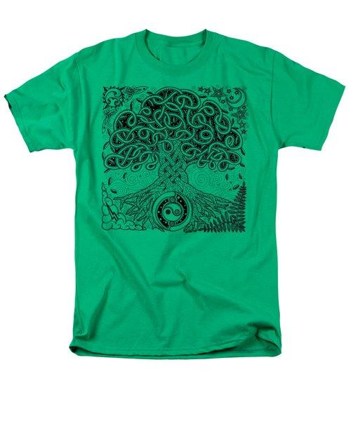 Circle Celtic Tree Of Life Inked Men's T-Shirt  (Regular Fit) by Kristen Fox