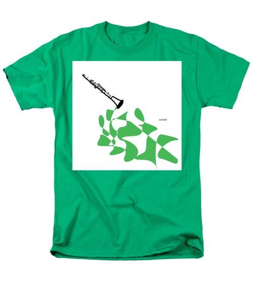 Clarinet In Green Men's T-Shirt  (Regular Fit) by David Bridburg