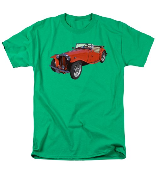 Classic Red Mg Tc Convertible British Sports Car Men's T-Shirt  (Regular Fit) by Keith Webber Jr