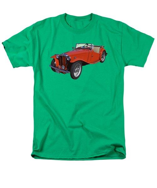 Classic Red Mg Tc Convertible British Sports Car Men's T-Shirt  (Regular Fit)
