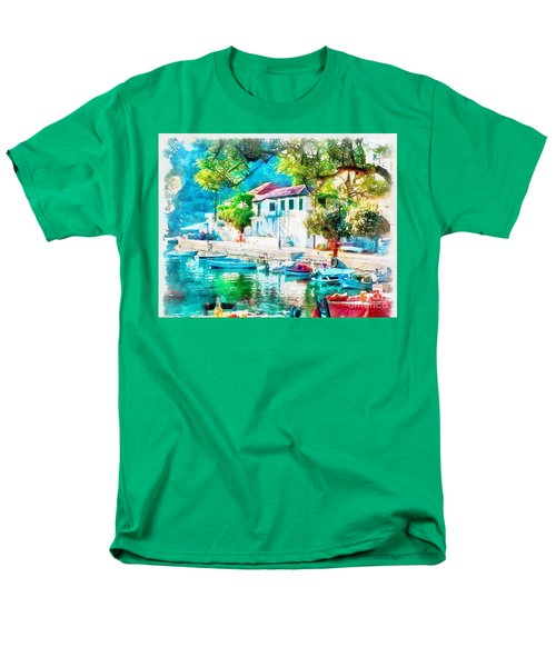 Coastal Cafe Greece Men's T-Shirt  (Regular Fit)