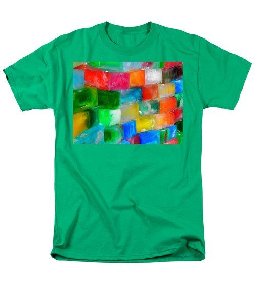 Colored Ice Bricks Men's T-Shirt  (Regular Fit) by Juergen Weiss