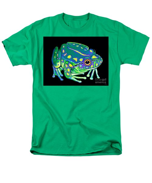 Men's T-Shirt  (Regular Fit) featuring the painting Colorful Froggy 2 by Nick Gustafson