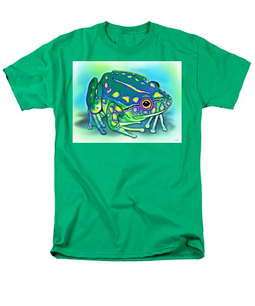 Men's T-Shirt  (Regular Fit) featuring the painting Colorful Froggy by Nick Gustafson