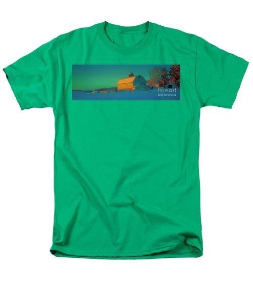 Men's T-Shirt  (Regular Fit) featuring the photograph Conley Rd White Barn by Tom Jelen