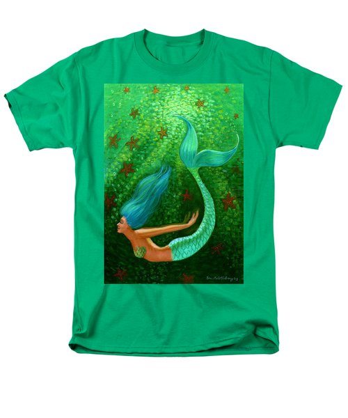 Diving Mermaid Fantasy Art Men's T-Shirt  (Regular Fit) by Sue Halstenberg