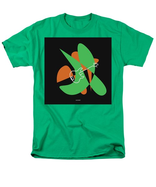 Electric Bass In Green Men's T-Shirt  (Regular Fit) by David Bridburg