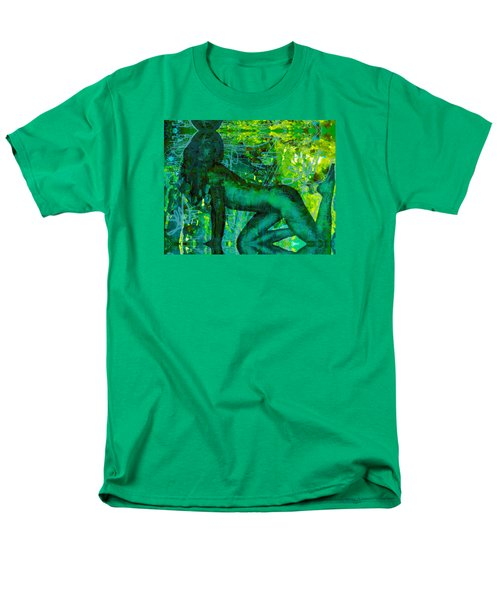Emerald Green Sacred Sex Graffiti Men's T-Shirt  (Regular Fit) by Deprise Brescia