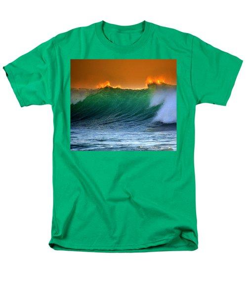 Fire Wave Men's T-Shirt  (Regular Fit) by Lori Seaman