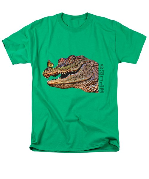 Gator Smile Men's T-Shirt  (Regular Fit) by Mitch Spence