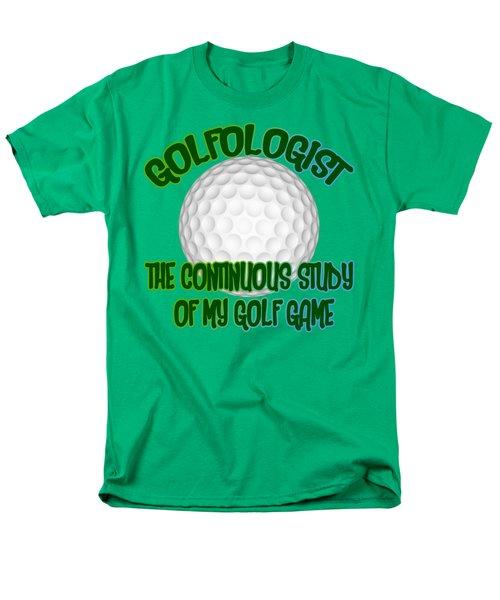 Golfologist Men's T-Shirt  (Regular Fit) by David G Paul