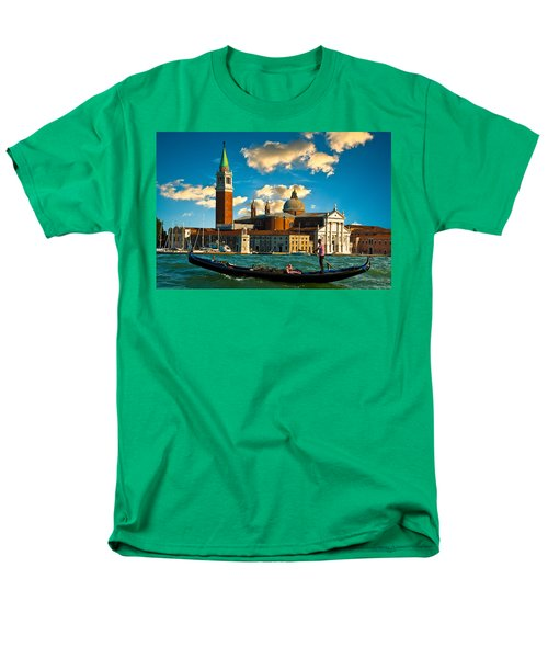 Gondola And San Giorgio Maggiore Men's T-Shirt  (Regular Fit) by Harry Spitz
