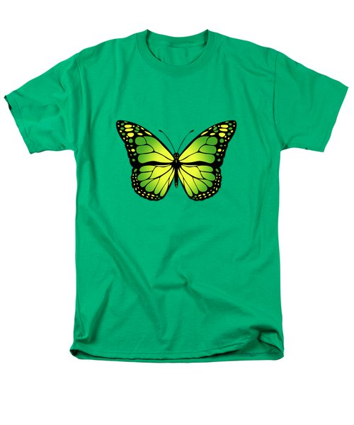 Green Butterfly Men's T-Shirt  (Regular Fit) by Gaspar Avila
