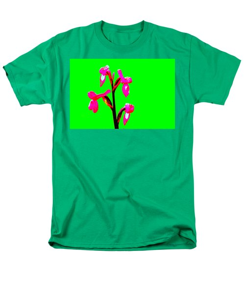 Green Champagne Orchid Men's T-Shirt  (Regular Fit) by Richard Patmore
