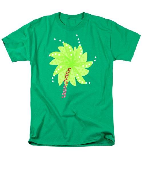 Green Flowers In The Wind Men's T-Shirt  (Regular Fit)