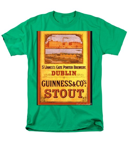 Men's T-Shirt  (Regular Fit) featuring the painting Guinness - Stout by Pg Reproductions