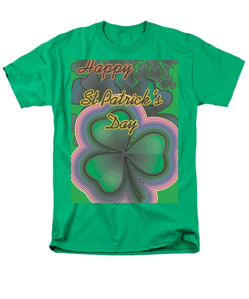 Men's T-Shirt  (Regular Fit) featuring the digital art Happy St. Patrick's Day by Sherril Porter