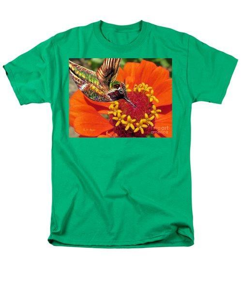 Hummingbird Delight Men's T-Shirt  (Regular Fit) by Kimberlee Baxter