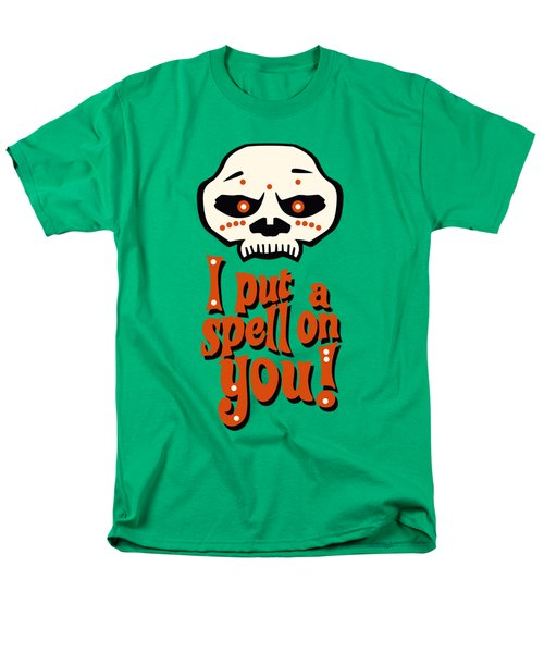 I Put A Spell On You Voodoo Retro Poster Men's T-Shirt  (Regular Fit) by Monkey Crisis On Mars