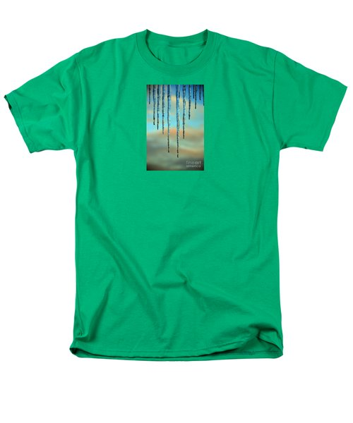 Men's T-Shirt  (Regular Fit) featuring the photograph Ice Sickles - Winter In Switzerland  by Susanne Van Hulst