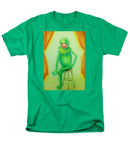 Men's T-Shirt  (Regular Fit) featuring the drawing It's Not Easy Being Green by Denise Fulmer