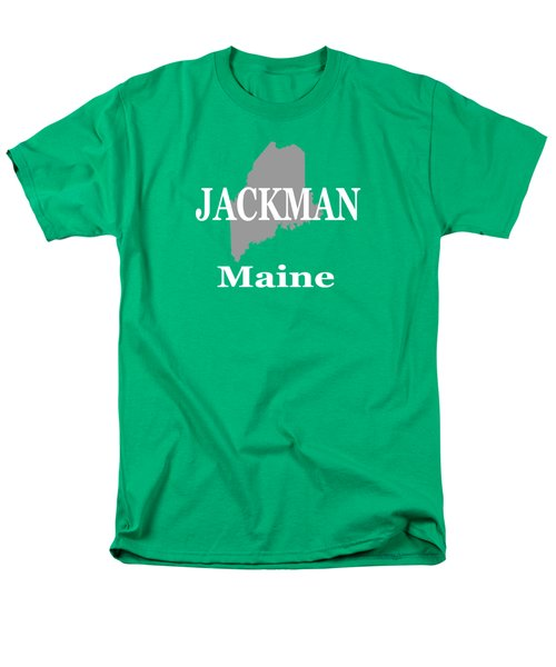 Men's T-Shirt  (Regular Fit) featuring the photograph Jackman Maine State City And Town Pride  by Keith Webber Jr