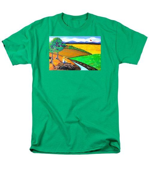 Men's T-Shirt  (Regular Fit) featuring the painting Kite by Cyril Maza