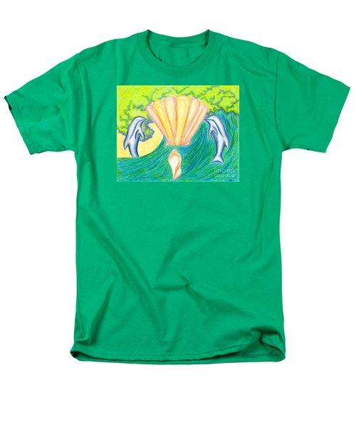 Men's T-Shirt  (Regular Fit) featuring the drawing Lemuria Atlantis by Kim Sy Ok