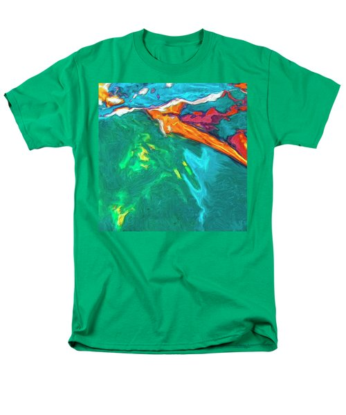 Men's T-Shirt  (Regular Fit) featuring the painting Lies Beneath by Dominic Piperata