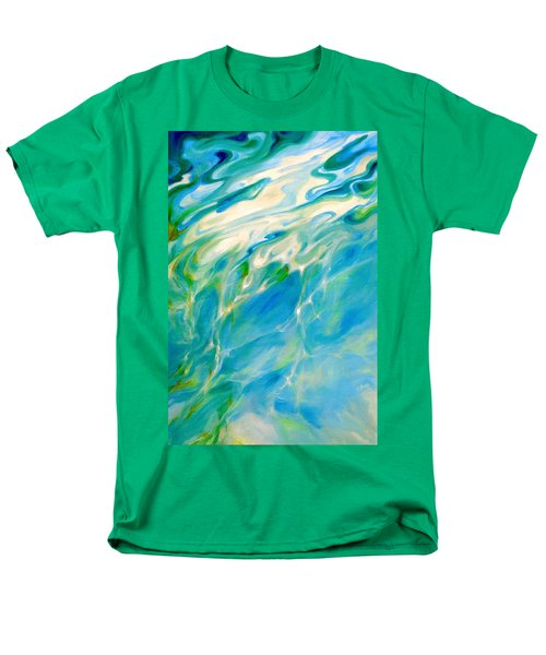 Men's T-Shirt  (Regular Fit) featuring the painting Liquid Assets by Dina Dargo