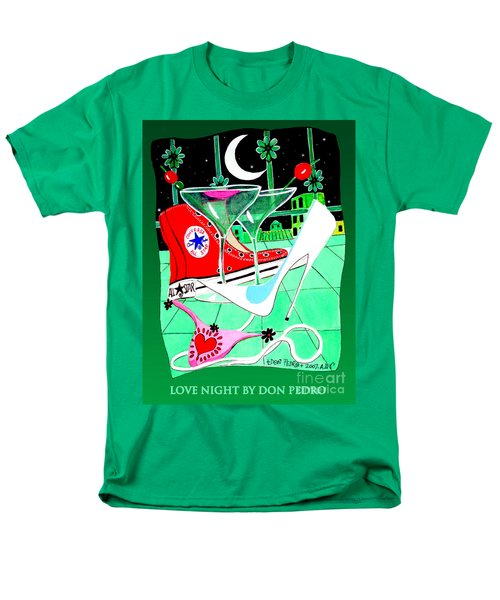 Men's T-Shirt  (Regular Fit) featuring the painting Love Night by Don Pedro De Gracia