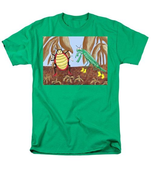 Lucy And Pablo Need A Garden Men's T-Shirt  (Regular Fit) by Jan Watford