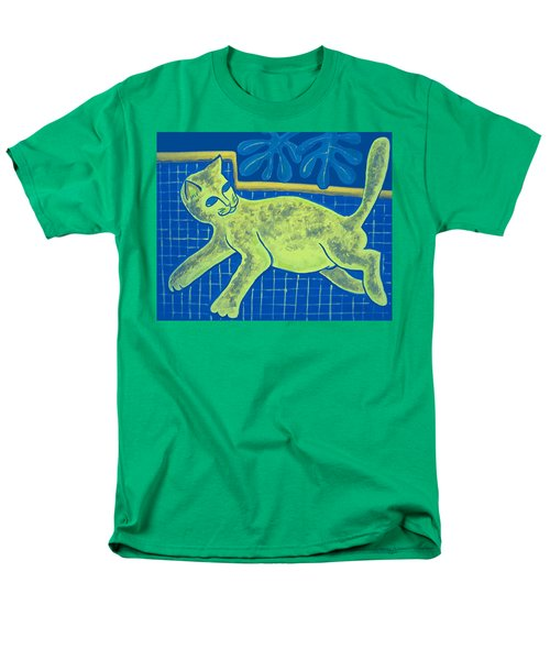 Matisse's Cat In Reverse Men's T-Shirt  (Regular Fit) by George I Perez