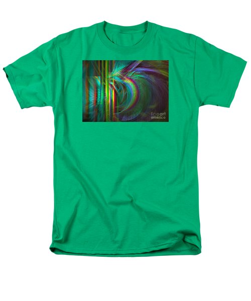 Men's T-Shirt  (Regular Fit) featuring the digital art Penetrated By Life - Abstract Art by Sipo Liimatainen