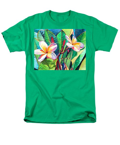 Plumeria Garden Men's T-Shirt  (Regular Fit) by Marionette Taboniar