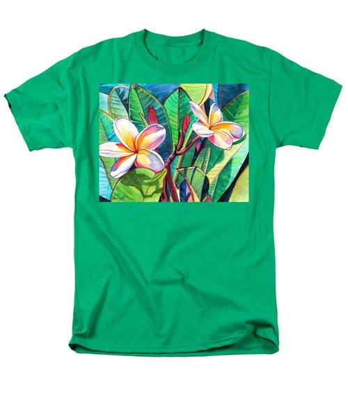 Plumeria Garden Men's T-Shirt  (Regular Fit)