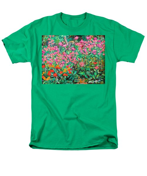 Radford Flower Garden Men's T-Shirt  (Regular Fit) by Kendall Kessler