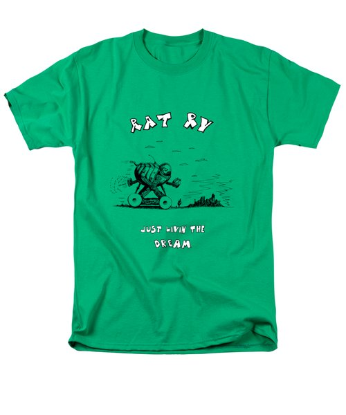 Men's T-Shirt  (Regular Fit) featuring the drawing Rat Rv - Just Livin The Dream by Kim Gauge