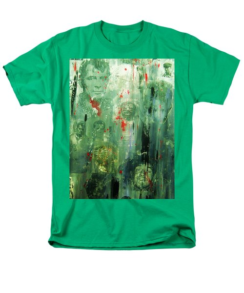 Men's T-Shirt  (Regular Fit) featuring the painting Remembering Kerouac by Roberto Prusso