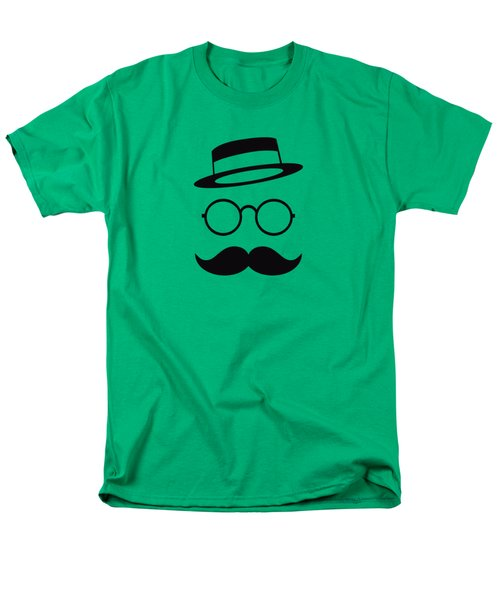 Retro Minimal Vintage Face With Moustache And Glasses Men's T-Shirt  (Regular Fit) by Philipp Rietz