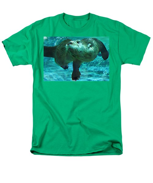 River Otter Men's T-Shirt  (Regular Fit) by Steve Karol
