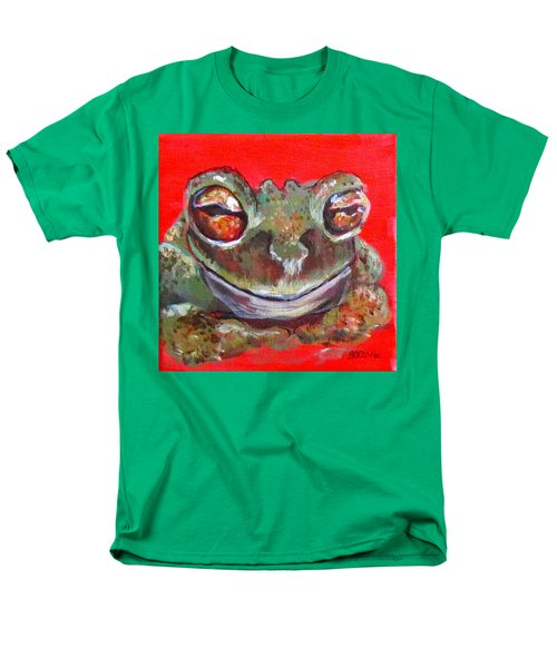 Satisfied Froggy  Men's T-Shirt  (Regular Fit) by Barbara O'Toole