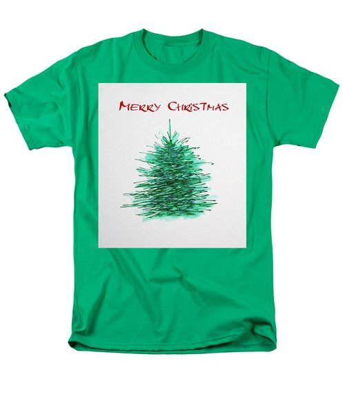 Men's T-Shirt  (Regular Fit) featuring the painting Simple Christmas  by Marna Edwards Flavell