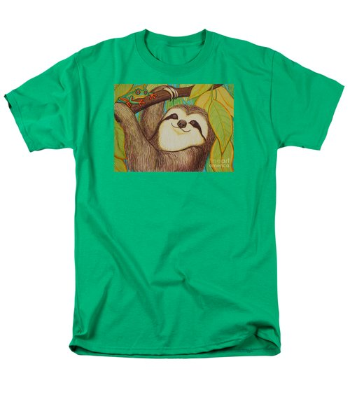 Sloth And Frog Men's T-Shirt  (Regular Fit) by Nick Gustafson