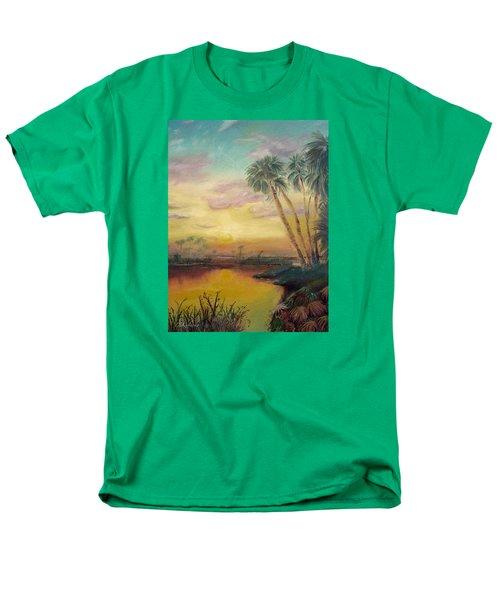 St. Johns Sunset Men's T-Shirt  (Regular Fit) by Dawn Harrell